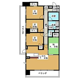 バンベール鶴舞[12階]の間取り