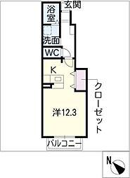 プーゼ C棟[1階]の間取り