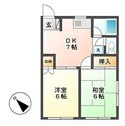 神奈川県川崎市宮前区神木本町5丁目の賃貸アパートの間取り