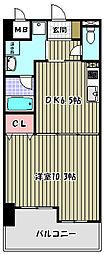 アヴァンドール三国ヶ丘[3階]の間取り