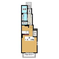 グランシャリオ大室[1階]の間取り