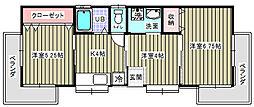 神奈川県横須賀市深田台の賃貸アパートの間取り
