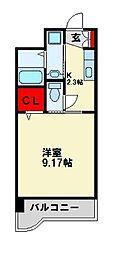 セレスタイト黒崎[605号室]の間取り