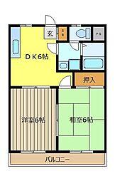 埼玉県志木市中宗岡3丁目の賃貸マンションの間取り