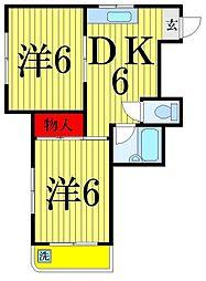グラシア梅田[2階]の間取り