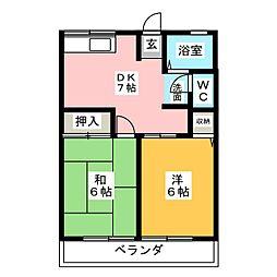 ユーメゾンB[2階]の間取り