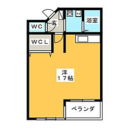 ビオス竹林[3階]の間取り