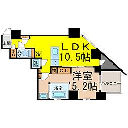 SK BUILDING−501(エスケービルディング)[7階]の間取り