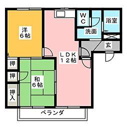 ドミー・ミヤモトA[1階]の間取り