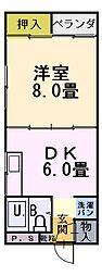 藤井マンション[201号室]の間取り