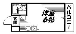Osaka Metro谷町線 太子橋今市駅 徒歩5分の賃貸マンション 4階ワンルームの間取り