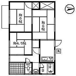 [一戸建] 愛媛県松山市朝生田町2丁目 の賃貸【/】の間取り