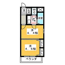 エスト葵南[3階]の間取り