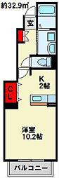 Sone Apartment A棟[1階]の間取り