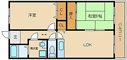 マンション ウメノ[3階]の間取り