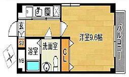 大阪府堺市堺区出島浜通の賃貸マンションの間取り