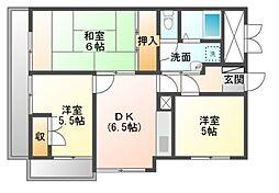 フラワーマンション[1階]の間取り