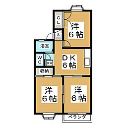 エスボアCITY2[2階]の間取り