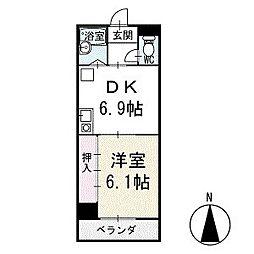 ワキタビル 3階[304号室]の間取り