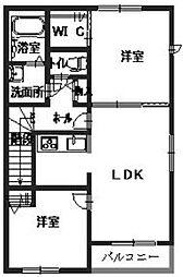 シャーメゾンセイビ[2階]の間取り