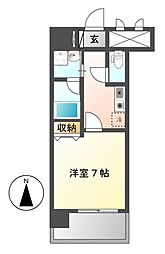 スカイフラット名古屋[3階]の間取り
