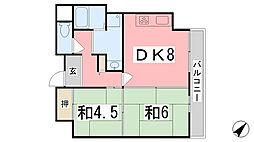 クリーンピア西二階町[3階]の間取り