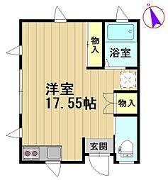 城東駅前アパート[01号室]の間取り