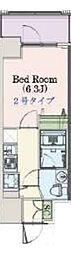 Osaka Metro千日前線 阿波座駅 徒歩3分の賃貸マンション 12階1Kの間取り