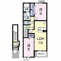 クレストガーデンIV[2階]の間取り