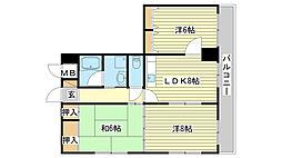 青山NKマンション[301号室]の間取り