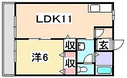 兵庫県たつの市新宮町下野の賃貸アパートの間取り
