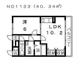 エレガントヒルズ2号館[3階]の間取り