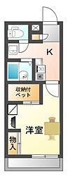 滋賀県大津市今堅田3丁目の賃貸アパートの間取り
