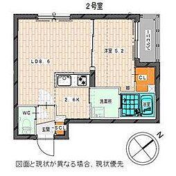 仮)白石中央1-7MS[2階]の間取り