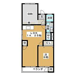 牧野マンション[3階]の間取り