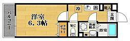 EXハイツ天美II[1階]の間取り