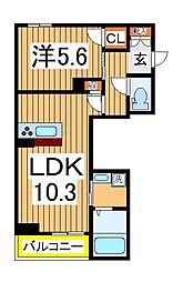 仮)柏の葉ホテルライクシャーメゾン 1階1LDKの間取り