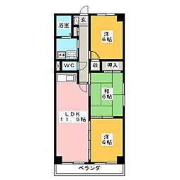 LEGEND[3階]の間取り