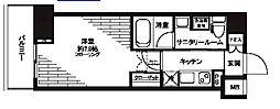 都営三田線 芝公園駅 徒歩5分の賃貸マンション 8階1Kの間取り