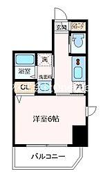 エステムコート神戸元町ヒルズ 13階1Kの間取り