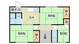 [一戸建] 兵庫県姫路市大津区新町1丁目 の賃貸【/】の間取り