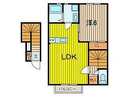 デザインメゾン別所[2階]の間取り