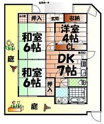 [一戸建] 福岡県北九州市小倉南区下城野1丁目 の賃貸【/】の間取り