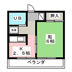 住吉マンション[4階]の間取り