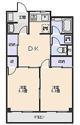 本木マンション[6階]の間取り