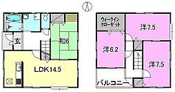 [一戸建] 愛媛県松山市小栗7丁目 の賃貸【/】の間取り