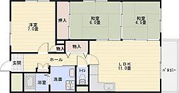 バンブー離宮[2階]の間取り