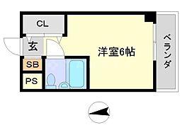 カミング[2階]の間取り