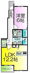 メゾンドゥファミーユ[1階]の間取り