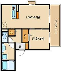 Re Court Luna[2階]の間取り